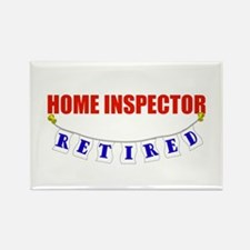 Retired Home Inspector Rectangle Magnet