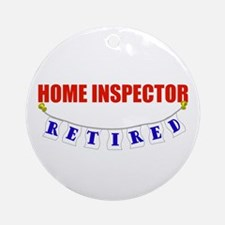 Retired Home Inspector Ornament (Round)
