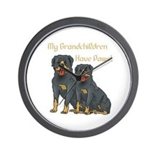 My Grandchildren Are Rottweilers Wall Clock