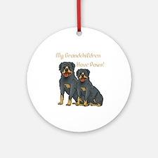 My Grandchildren Are Rottweilers Ornament (Round)