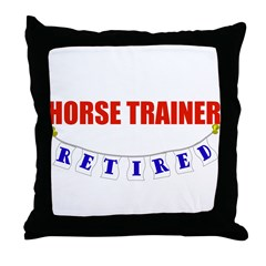 Retired Horse Trainer Throw Pillow