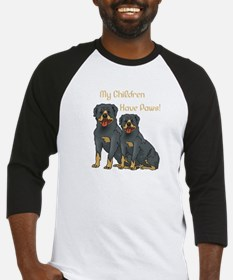 My Children Are Rottweilers Baseball Jersey