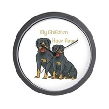 My Children Are Rottweilers Wall Clock