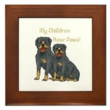 My Children Are Rottweilers Framed Tile