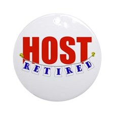 Retired Host Ornament (Round)