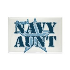 Proud Navy Aunt Rectangle Magnet