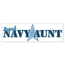 Proud Navy Aunt Bumper Bumper Sticker
