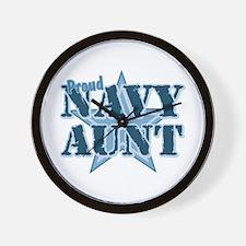 Proud Navy Aunt Wall Clock