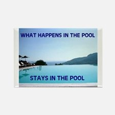 SWIMMING POOL Rectangle Magnet (100 pack)