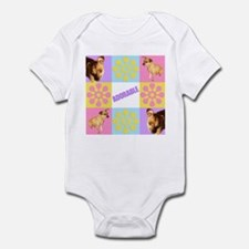 Adorable Chihuahua and Flowers Infant Bodysuit