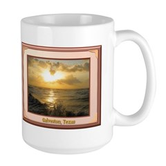 Galveston Sunrise Large Mug