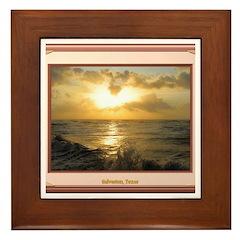 Galveston Sunrise Framed Tile