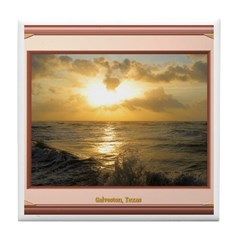 Galveston Sunrise Tile Coaster