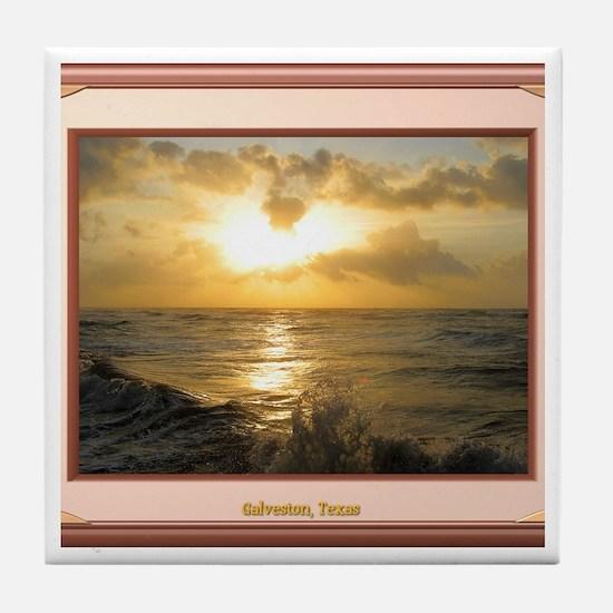 Galveston Sunrise Tile Coaster