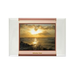 Galveston Sunrise Rectangle Magnet