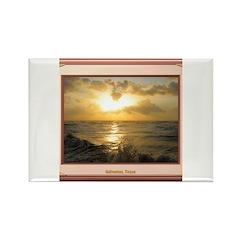 Galveston Sunrise Rectangle Magnet