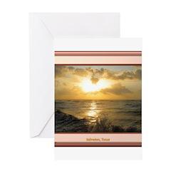 Galveston Sunrise Greeting Card