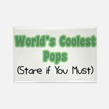 World's Coolest Pops Rectangle Magnet