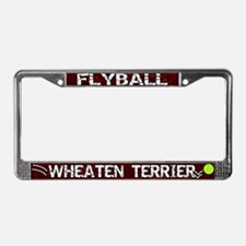 Flyball Wheaten Terrier License Plate Frame
