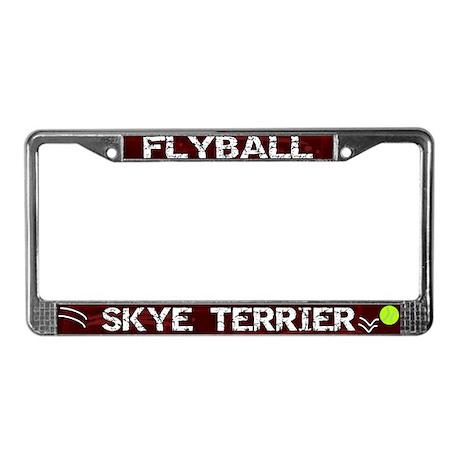 Flyball Skye Terrier License Plate Frame