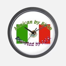 Mexican by Birth... Deported by I.C.E. Wall Clock