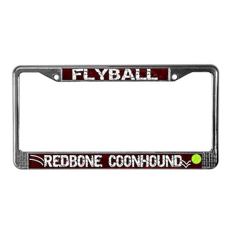 Flyball Redbone Coonhound License Plate Frame