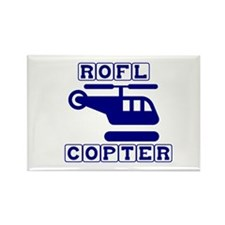 Roflcopter Rectangle Magnet