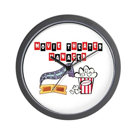 Movie Theater Mgr. Wall Clock