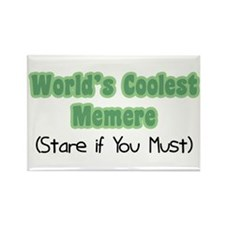 World's Coolest Memere Rectangle Magnet