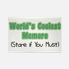 World's Coolest Memere Rectangle Magnet