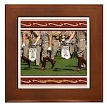 A&M #4 Framed Tile