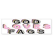 God Loves Gays Bumper Bumper Sticker