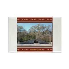 College Station #3 Rectangle Magnet
