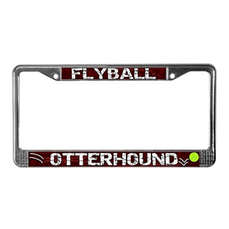 Flyball Otterhound License Plate Frame