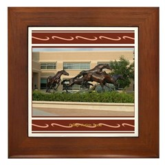 College Station #1 Framed Tile