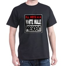 White Male President T-Shirt
