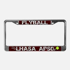 Flyball Lhasa Apso License Plate Frame