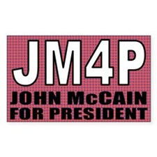JM4P - John McCain For Presid Sticker (Rectangular