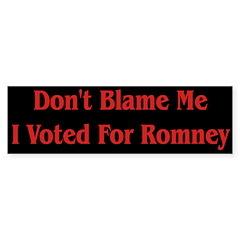 Romney Black Bumper Bumper Sticker