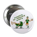 "Happy St. Patrick's Day 2.25"" Button"