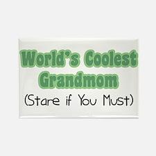 World's Coolest Grandmom Rectangle Magnet