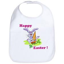 Pink Happy Easter Bunny Bib