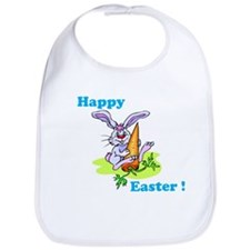 Blue Happy Easter Bunny Bib