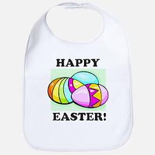 Happy Easter Eggs Bib