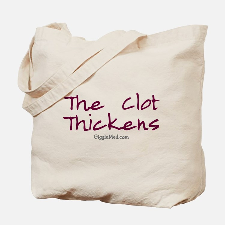 Clot Thickens 01 Tote Bag