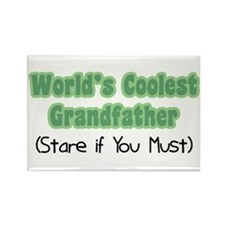 World's Coolest Grandfather Rectangle Magnet