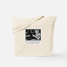 Crochet Hooker at Night Tote Bag