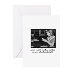 Crochet Hooker at Night Greeting Cards (Pk of 20)