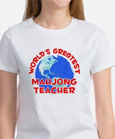 World's Greatest Mahjo.. (F) Women's T-Shirt