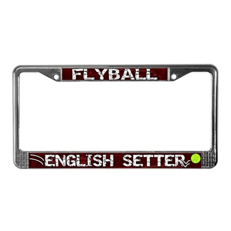 Flyball English Setter License Plate Frame